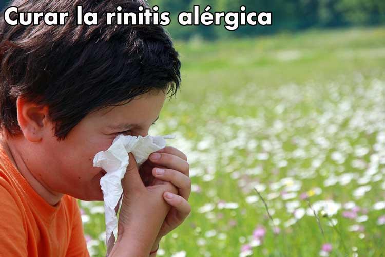 ¿Cuál es la mejor dieta o técnica  para curar la rinitis alérgica?